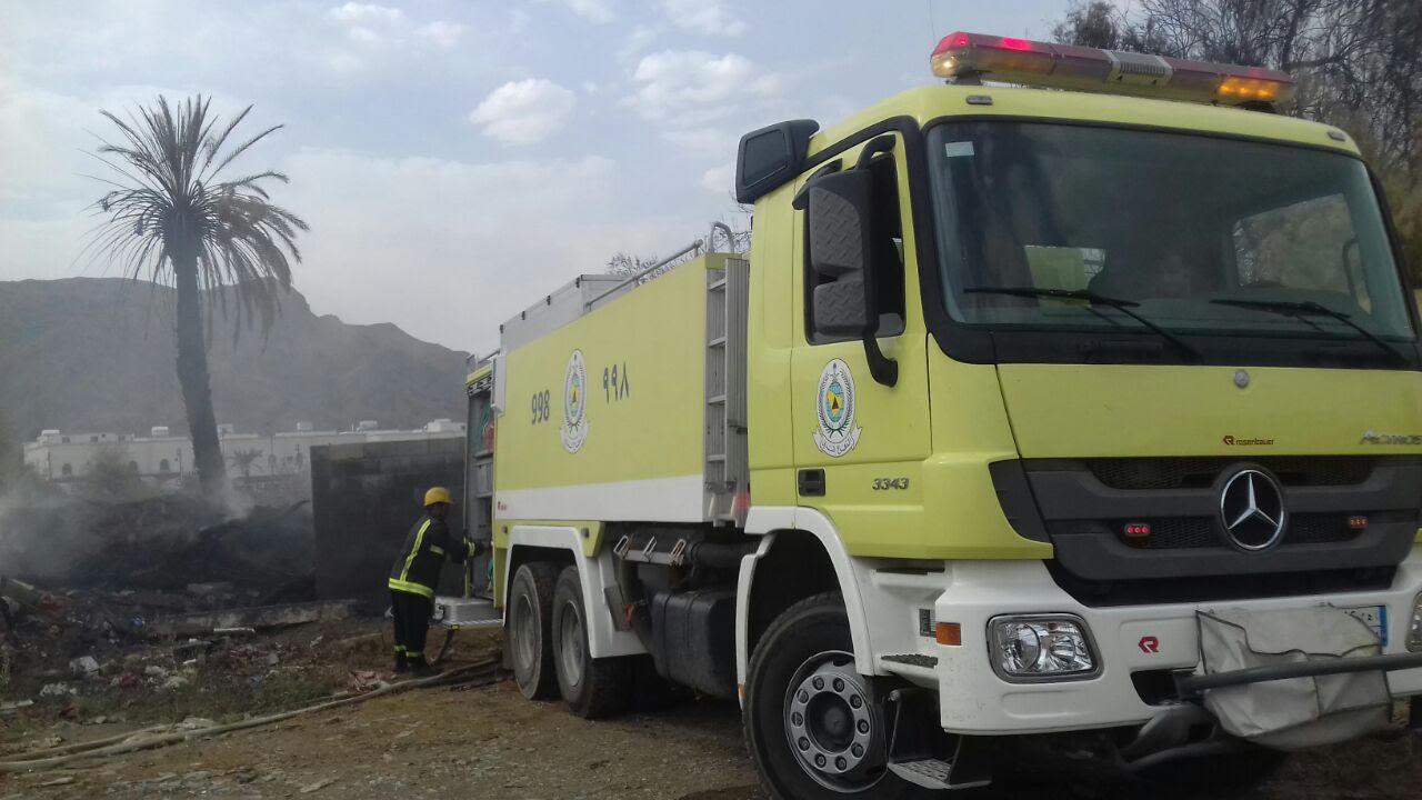 خماد حريق مروع بمزرعة نخيل بنجران (3)