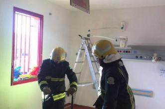 """المدني """"يشفط"""" دخان طوارئ مستشفى خميس مشيط ويخلي 14 شخصاً - المواطن"""
