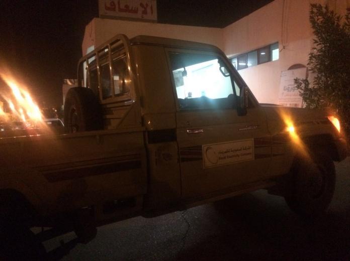دخان يداهم قسم أطفال مستشفى #حائل (2)