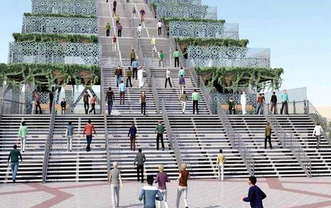 """شاهد.. """"دَرج دبي"""" معلم جديد يجذب السياح والرياضيين - المواطن"""