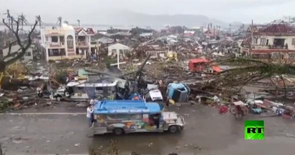 دمار هائل يخلفه اعصار هايان بالفلبين