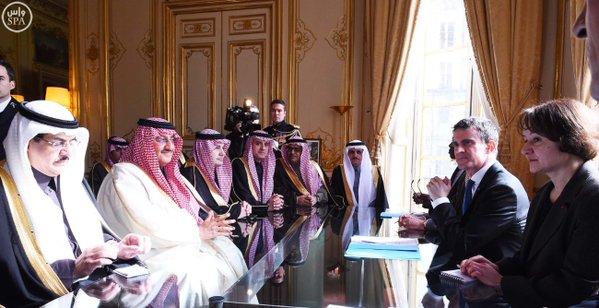 دولة رئيس الوزراء الفرنسي يستقبل #سمو_ولي_العهد 3