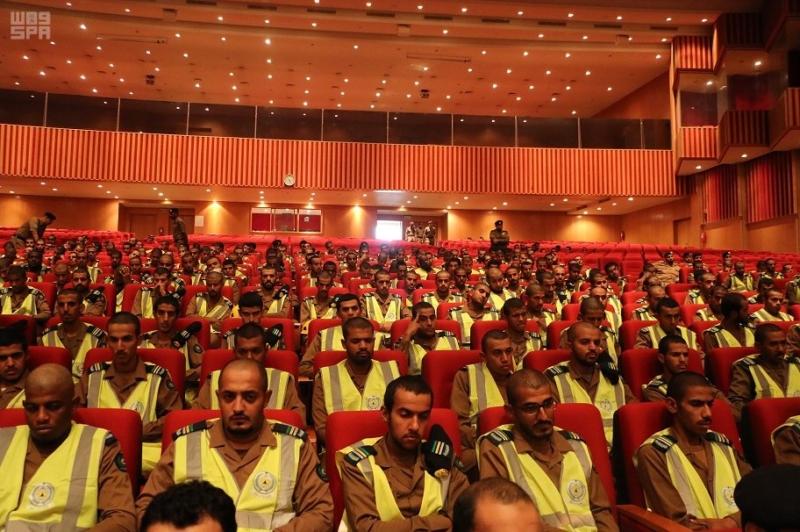دير الدفاع المدني بالعاصمة المقدسة يلتقي قوة دعم المسجد الحرام 2