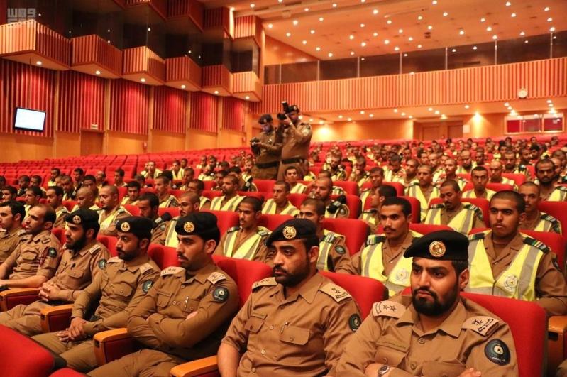 دير الدفاع المدني بالعاصمة المقدسة يلتقي قوة دعم المسجد الحرام