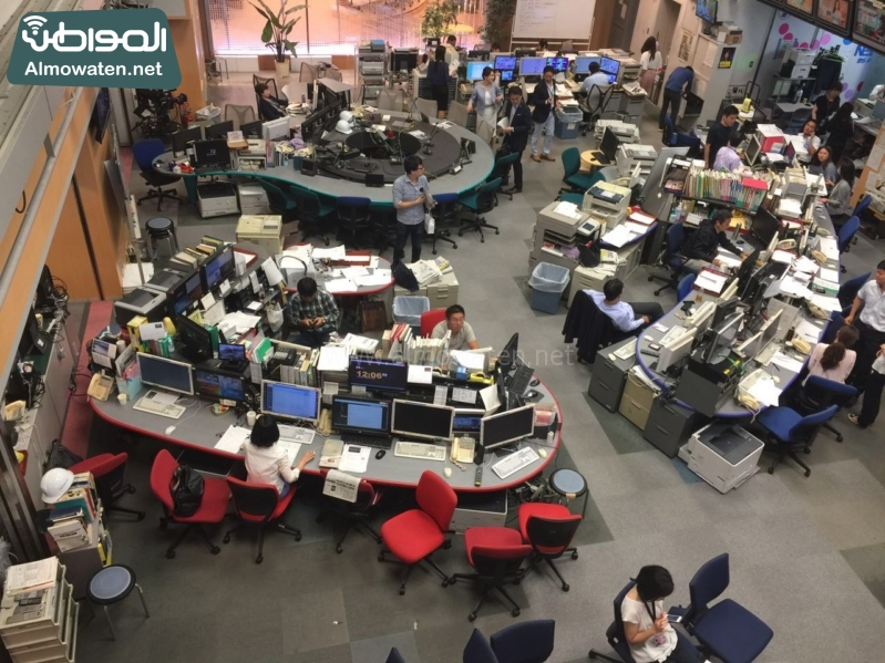 رؤساء التحرير في زيارة لشبكة فوجي اليابانية1