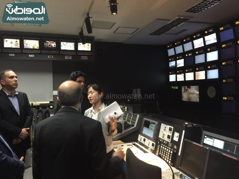 رؤساء التحرير في زيارة لشبكة فوجي اليابانية2