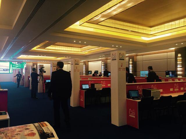 رؤساء تحرير وكتاب في المقر الإعلامي السعودي في #قمة_العشرين (5)