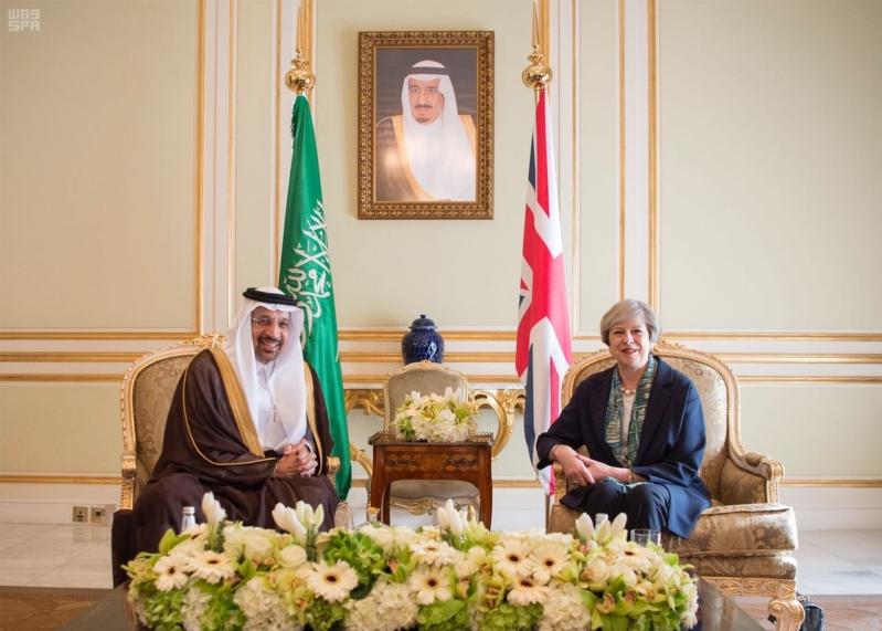 بالصور.. رؤية المملكة 2030 تتصدر لقاء رئيسة وزراء بريطانيا والفالح