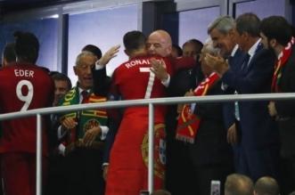 رئيس البرتغال يمنح وسام الشرف لرونالدو