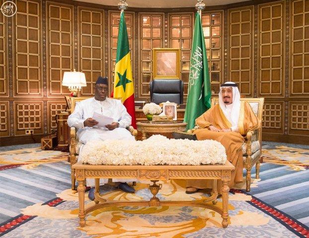 بالصور .. الرئيس السنغالي في ضيافة الملك