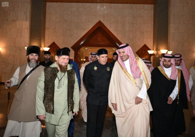 رئيس الشيشان في المدينة