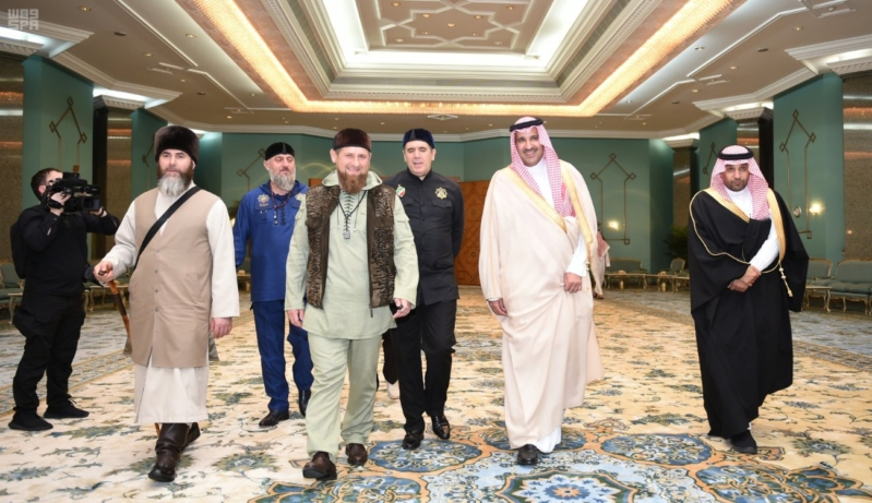 رئيس الشيشان في المدينة1