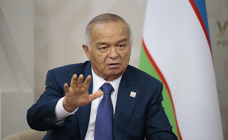 إسلام كريموف رئيس اوزبكستان