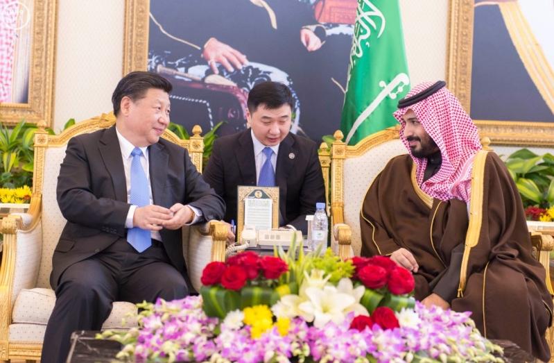 رئيس جمهورية الصين الشعبية يصل الرياض, وسمو ولي ولي العهد يستقبله لدى وصوله مطار الملك خالد الدولي3