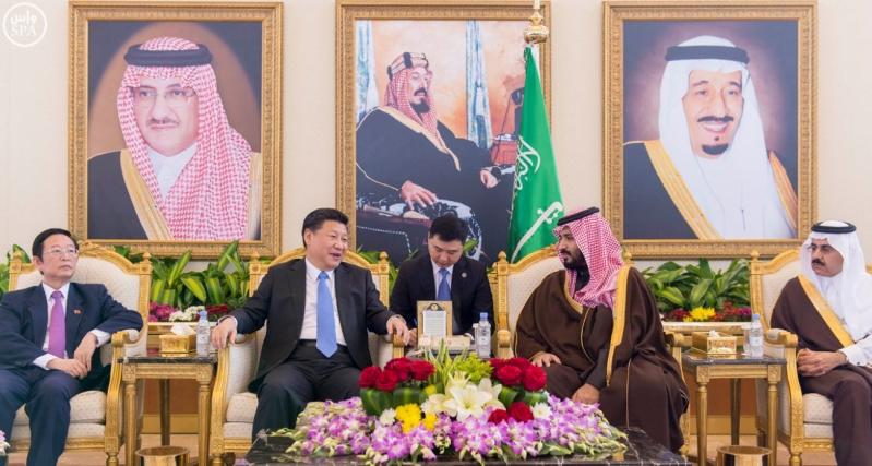 رئيس جمهورية الصين الشعبية يصل الرياض, وسمو ولي ولي العهد يستقبله لدى وصوله مطار الملك خالد الدولي4