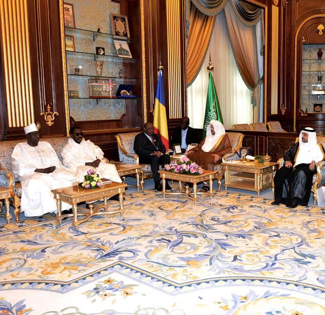 رئيس مجلس الشورى مع رئيس البرلمان التشادي