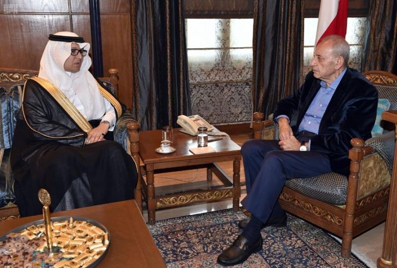بخاري يستعرض مع رئيس النواب اللبناني العلاقات الثنائية