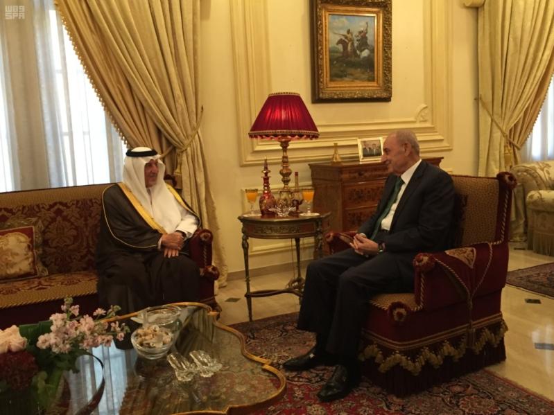 رئيس مجلس النواب اللبناني يلتقي الفيصل