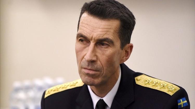 رئيس هيئة الأركان العامة للقوات المسلحة السويدية الجنرال ميكائيل بيودن