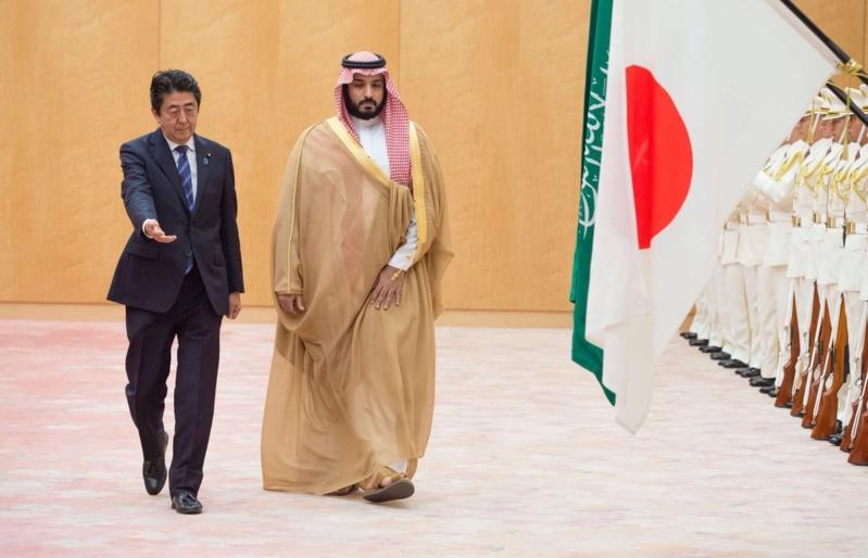 رئيس وزراء اليابان يستقبل ولي ولي العهد 1