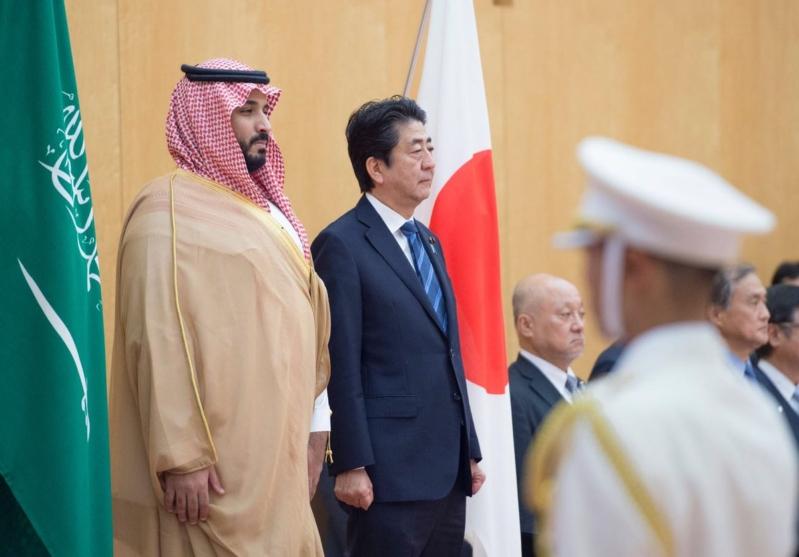 رئيس وزراء اليابان يستقبل ولي ولي العهد 2