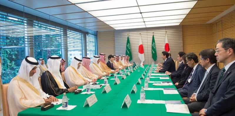 رئيس وزراء اليابان يستقبل ولي ولي العهد 3