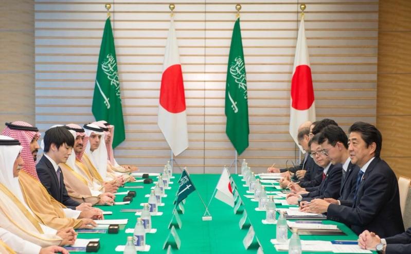 رئيس وزراء اليابان يستقبل ولي ولي العهد 4