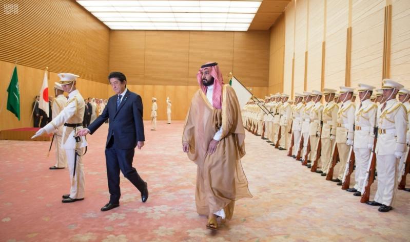 رئيس وزراء اليابان يستقبل ولي ولي العهد 6