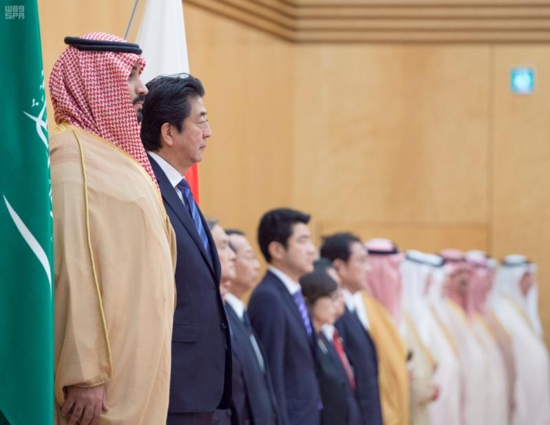رئيس وزراء اليابان يستقبل ولي ولي العهد 7