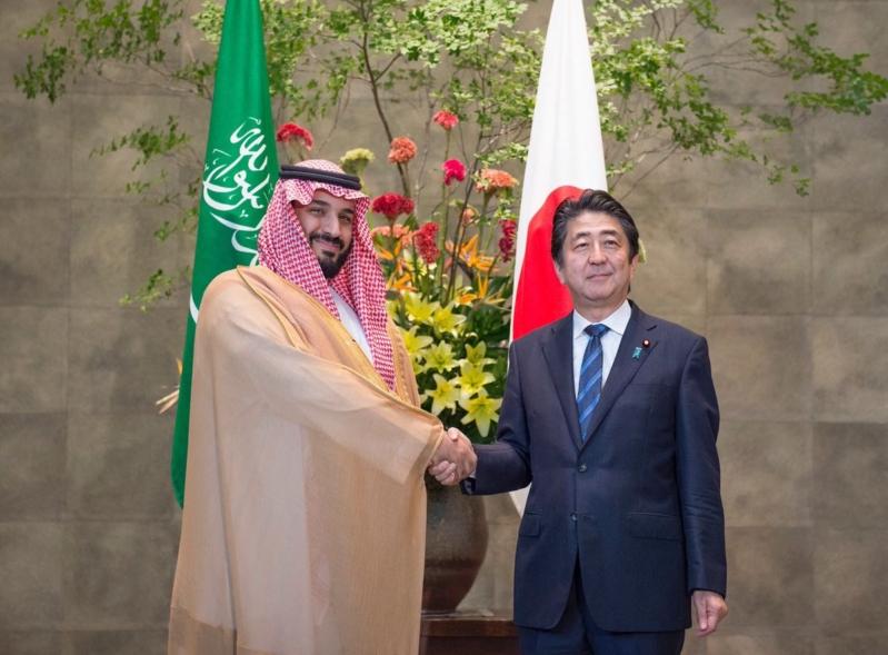 رئيس وزراء اليابان يستقبل ولي ولي العهد