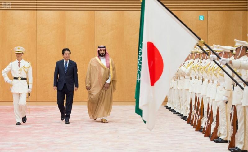 رئيس وزراء اليابان يستقبل ولي ولي العهد 8