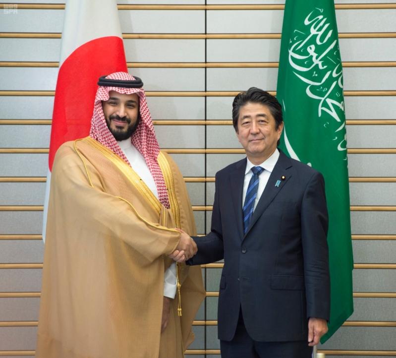 رئيس وزراء اليابان يستقبل ولي ولي العهد 9