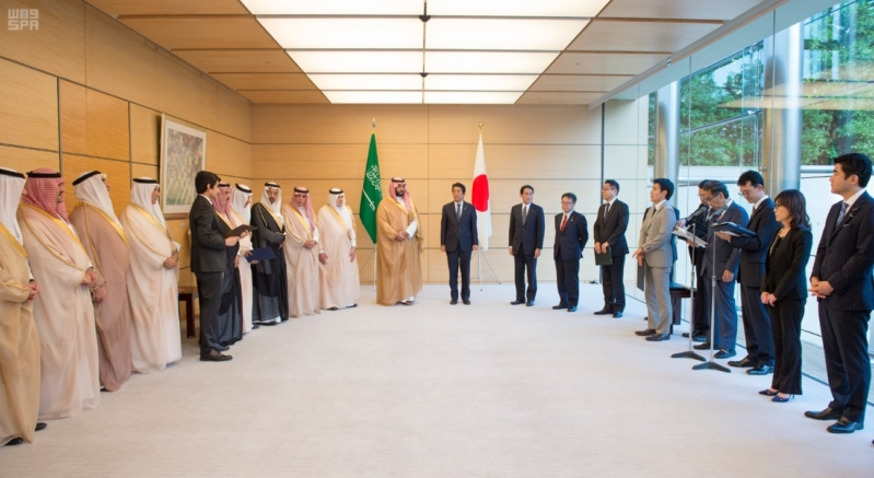 رئيس وزراء اليابان يستقبل ولي ولي العهد12