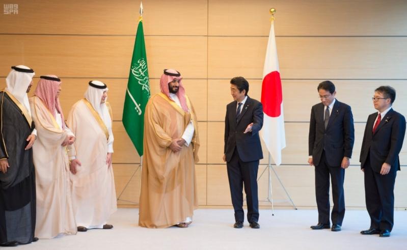 رئيس وزراء اليابان يستقبل ولي ولي العهد13