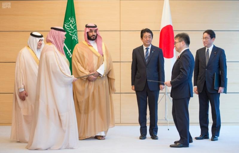 رئيس وزراء اليابان يستقبل ولي ولي العهد15