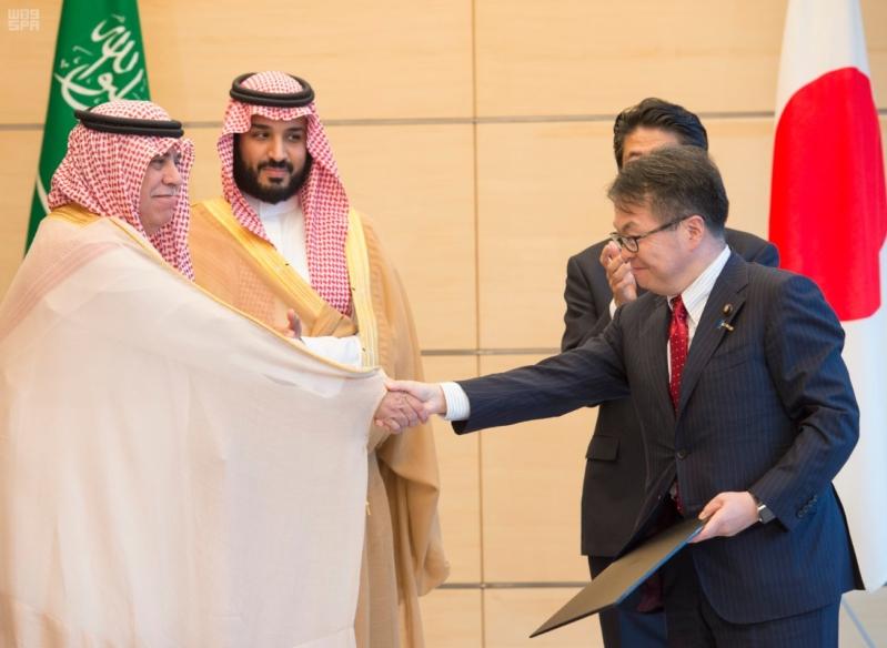 رئيس وزراء اليابان يستقبل ولي ولي العهد16