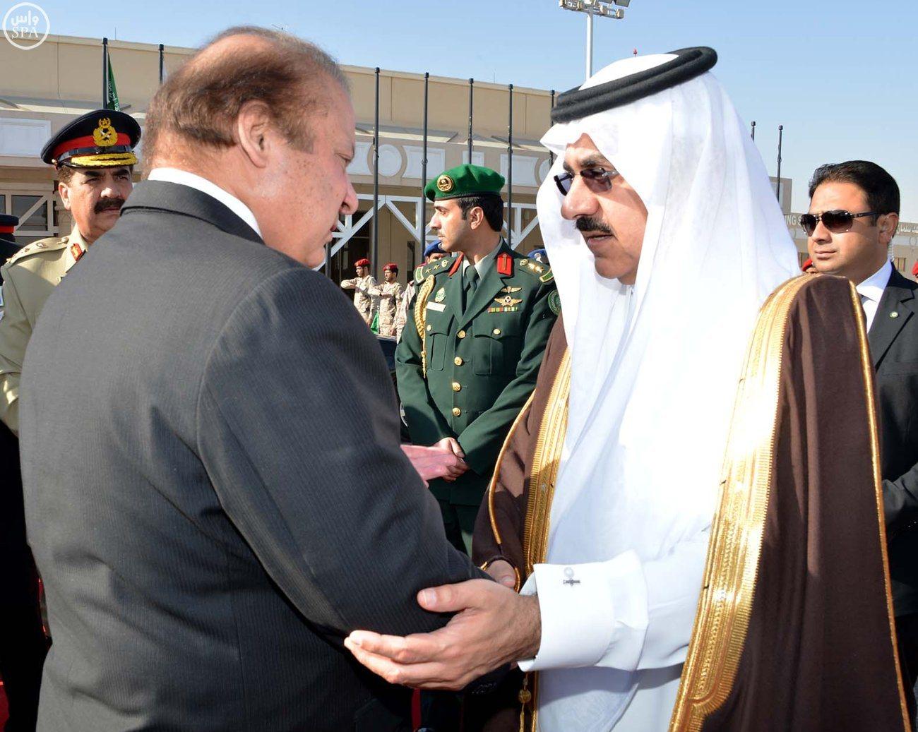 رئيس وزراء باكستان يغادر الرياض2
