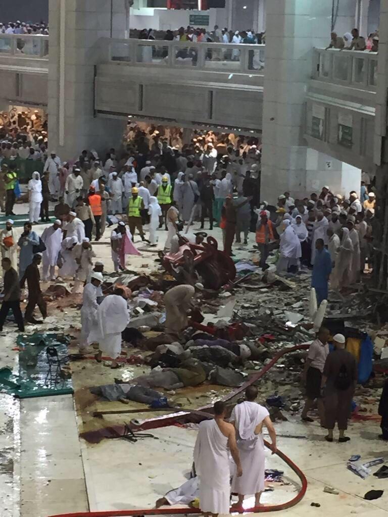 إحصائية جديدة : 87 قتيلاً و 184 جريحاً بحادث #سقوط_رافعة_في_الحرم المكي - المواطن
