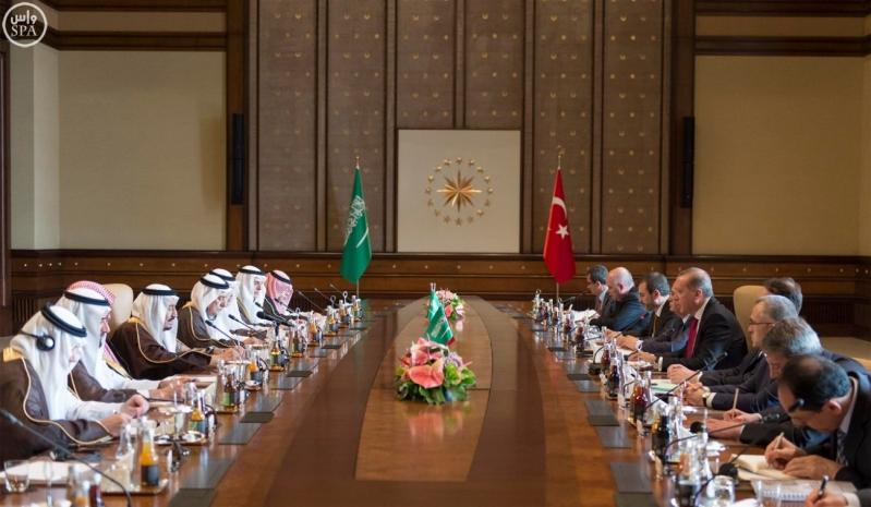 رجب طيب أردوغان رئيس جمهورية تركيا وأخوه خادم الحرمين الشريفين