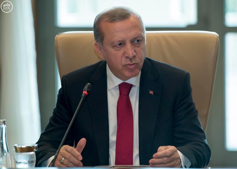 رجب طيب أردوغان رئيس جمهورية تركيا وأخوه خادم الحرمين الشريفين2