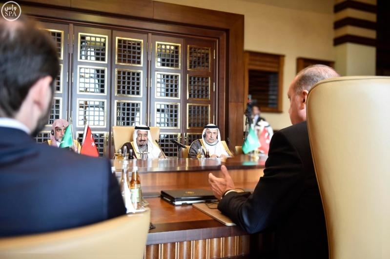 رجب طيب أردوغان رئيس جمهورية تركيا وأخوه خادم الحرمين الشريفين3