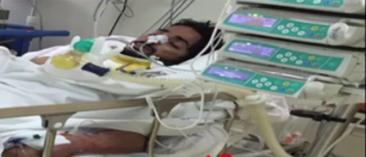 رجل امن مصاب في المستشفى