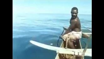 شاهد.. صياد يصطاد سمك القرش بيده - المواطن