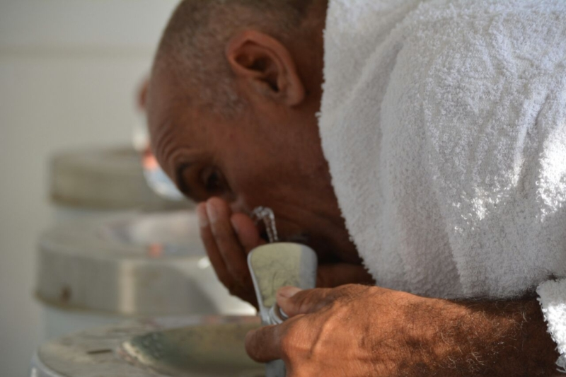 رحلة ضيوف الرحمن من مكة إلى مشعر منى فجر اليوم (313412380) 