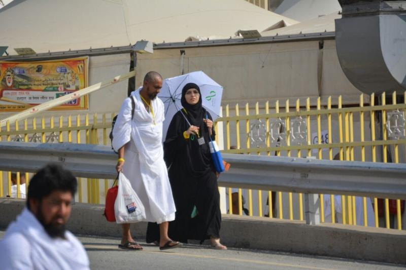 رحلة ضيوف الرحمن من مكة إلى مشعر منى فجر اليوم (313412394) 