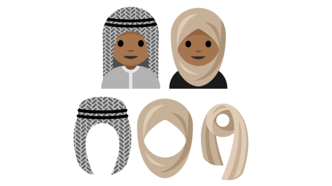 رموز تعبيرية بالحجاب