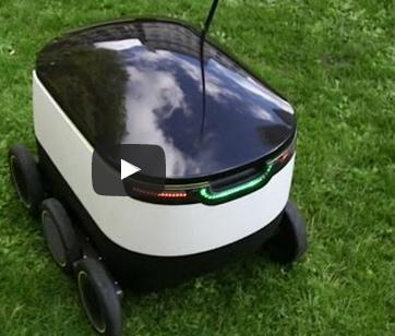 روبوت جديد لتوصيل الطلبات