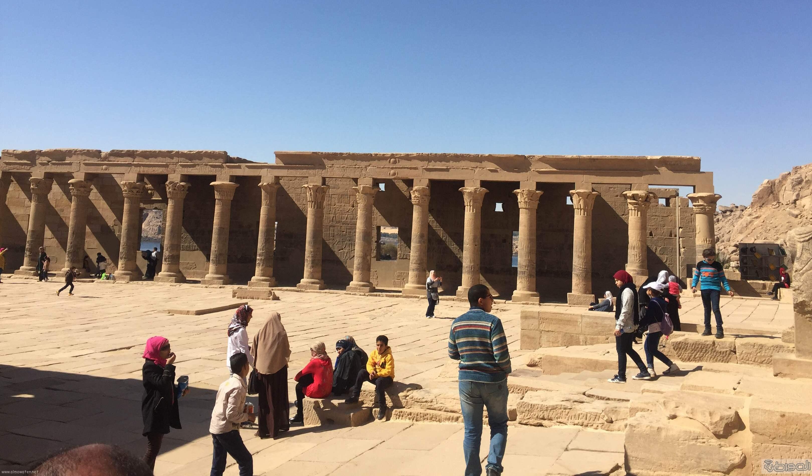 زيارة الاعلام السياحي لمعبد الفيلة والسد العالي باسوان (5)