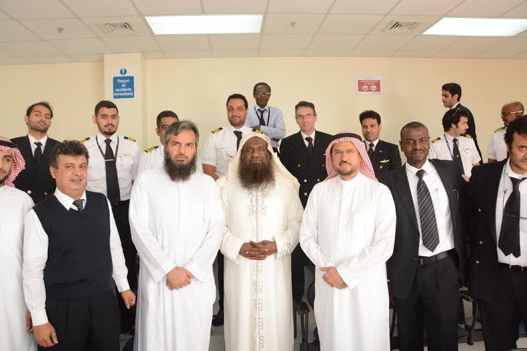 زيارة الشيخ عادل الكلباني للخطوط السعودية1