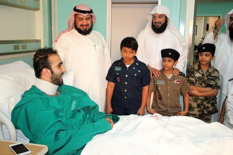 زيارة المصابين من جنود الوطن